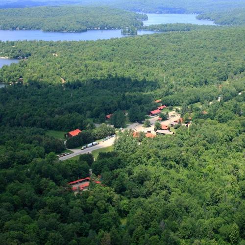 Haliburton Forest Base Camp aerial view