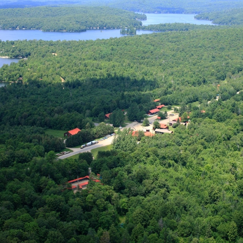 Haliburton Forest Base Camp aerial view