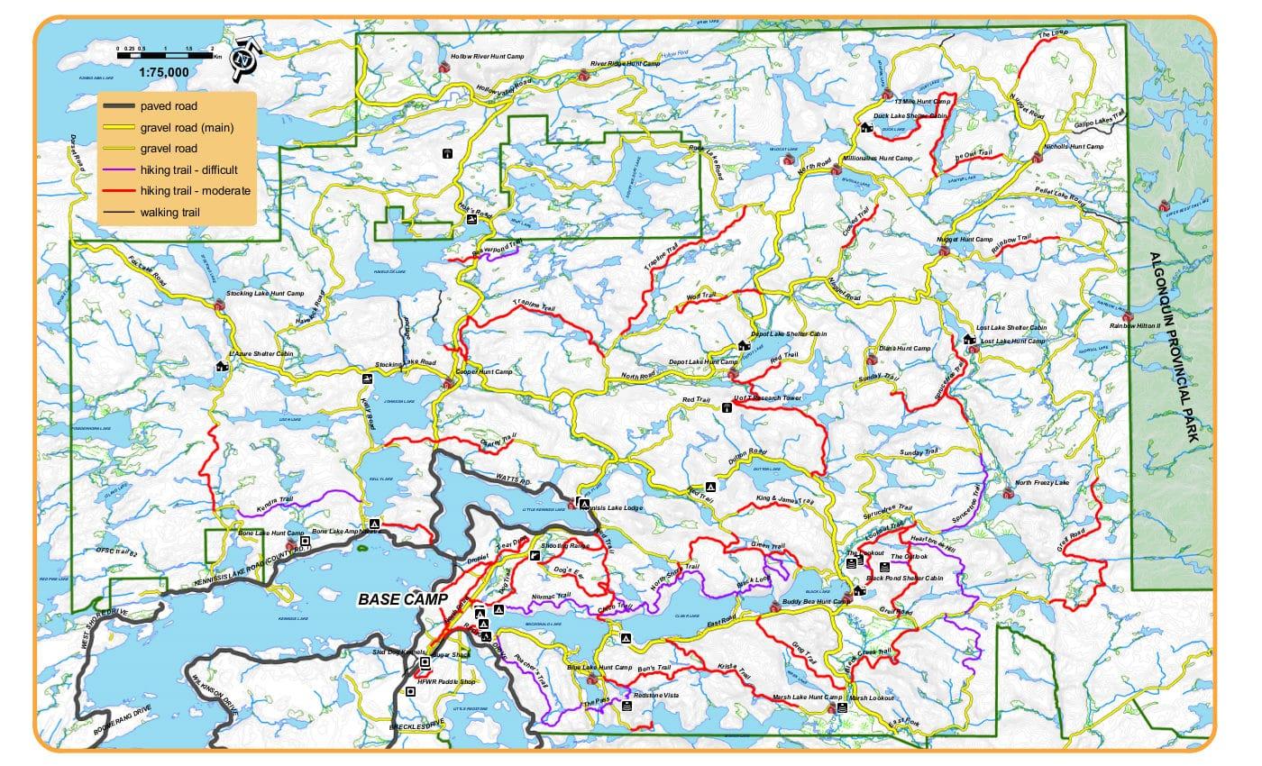 Haliburton Forest summer trails