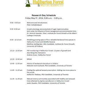 A Celebration of Research at Haliburton Forest!