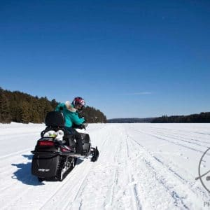 Solmaz' First Snowmobiling Experience
