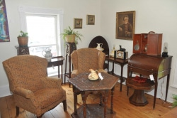 Antique chairs and table