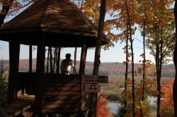 Marsh Lake lookout in fall