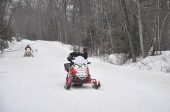 Snowmobile at Poker Run 2016