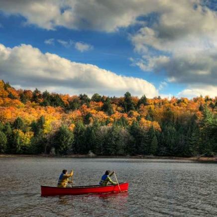 canoeing at haliburton forest
