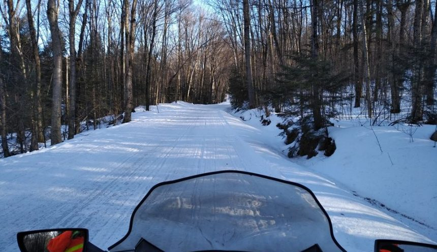 East Road Snowmobile Trail 2018 1