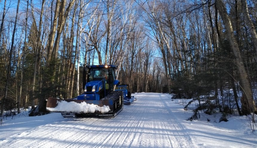 Groomer on Snowmobile Trail 2018