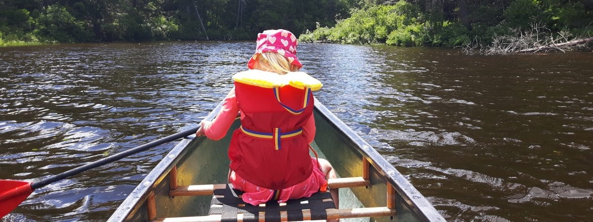 Canoeing in Haliburton Forest